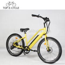 500W 8Fun bafang motor trasero ebike 7-spd eléctrica crucero de playa bicicleta 26 pulgadas dama e bicicleta