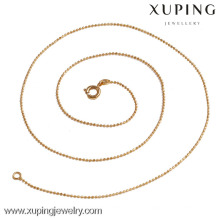 42749 xuping jewellry 2016 vente chaude 18 k or couleur boule chaîne collier