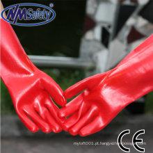 NMSAFETY à prova de água cheio revestido de trabalho luva de PVC / luva de trabalho
