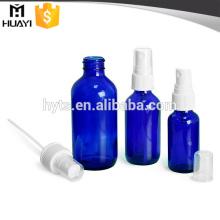 Bouteille de compte-gouttes cosmétique de la couleur bleue 30ml 50ml 100ml avec la pompe