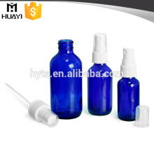 30ml 50ml 100ml blue color cosmetic dropper bottle with pump
