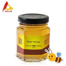 Miel pura casto en botella de miel de abeja