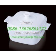 Cuiseur vapeur carré en verre laiteux - 2,5 L