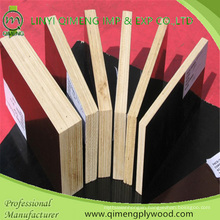 Construction Grade Poplar Black Brown Color 12mm Film Faced Plywood