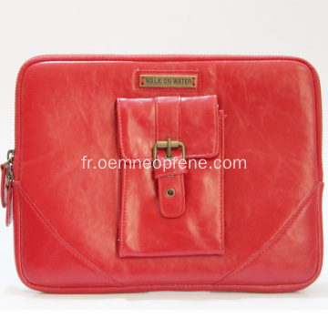 Red Good Quality Red Neoprene Ladies Housses de laptop