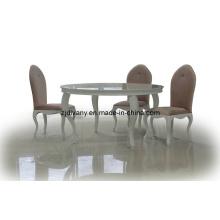 Pos-moderna mesa de madera redonda de comedor mesa (LS-214)