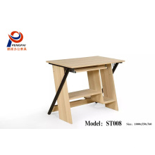 New design wooden/ melamine office and home desktop with steel computer table