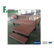 Terraço de madeira com design japonês WPC