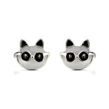 2016 Lovely Animals Mr.Black personalized gold earring models opal stud earring