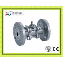3PC Factory Edelstahl CF8 Flansch Kugelhahn 4 Zoll