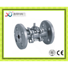 3PC Factrory Stainless Steel CF8 Flanged Ball Valve 4 Inch