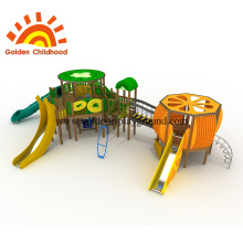 Kiwi And Orange Outdoor Playground For Children