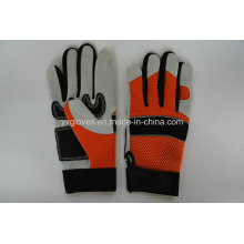 Mechanic Glove- Silicon Glove- Safety Glove-Labor Glove-Work Glove-Leather Glove