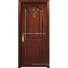 Portas de madeira de teca sólidas