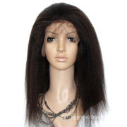 Lace front wig, curl and middle length