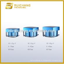 Tarro de crema de acrílico 15g / 30g / 50g, tarro de crema de acrílico de la forma cuadrada