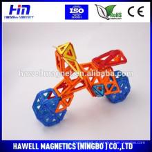 Plástico com ímãs Brinquedos de bloco de construção