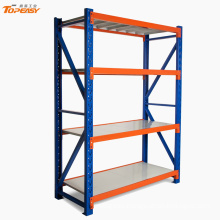 medium duty boltless 6-tier steel shelving rack storage