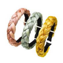 Bandeau cheveux tali rambut Autumn Winter Silk Fabric braided Sponge Hairband Fashion Hair Band Accessories Korean Thick Headband Wholesale