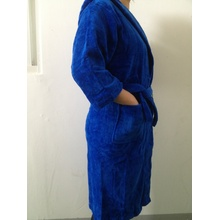 100%cotton velour terry hooded bathrobe