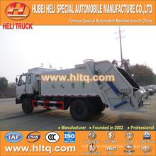 DONGFENG 4x2 12 M3 waste compactor truck with pressing mechanism diesel engine 190 hp