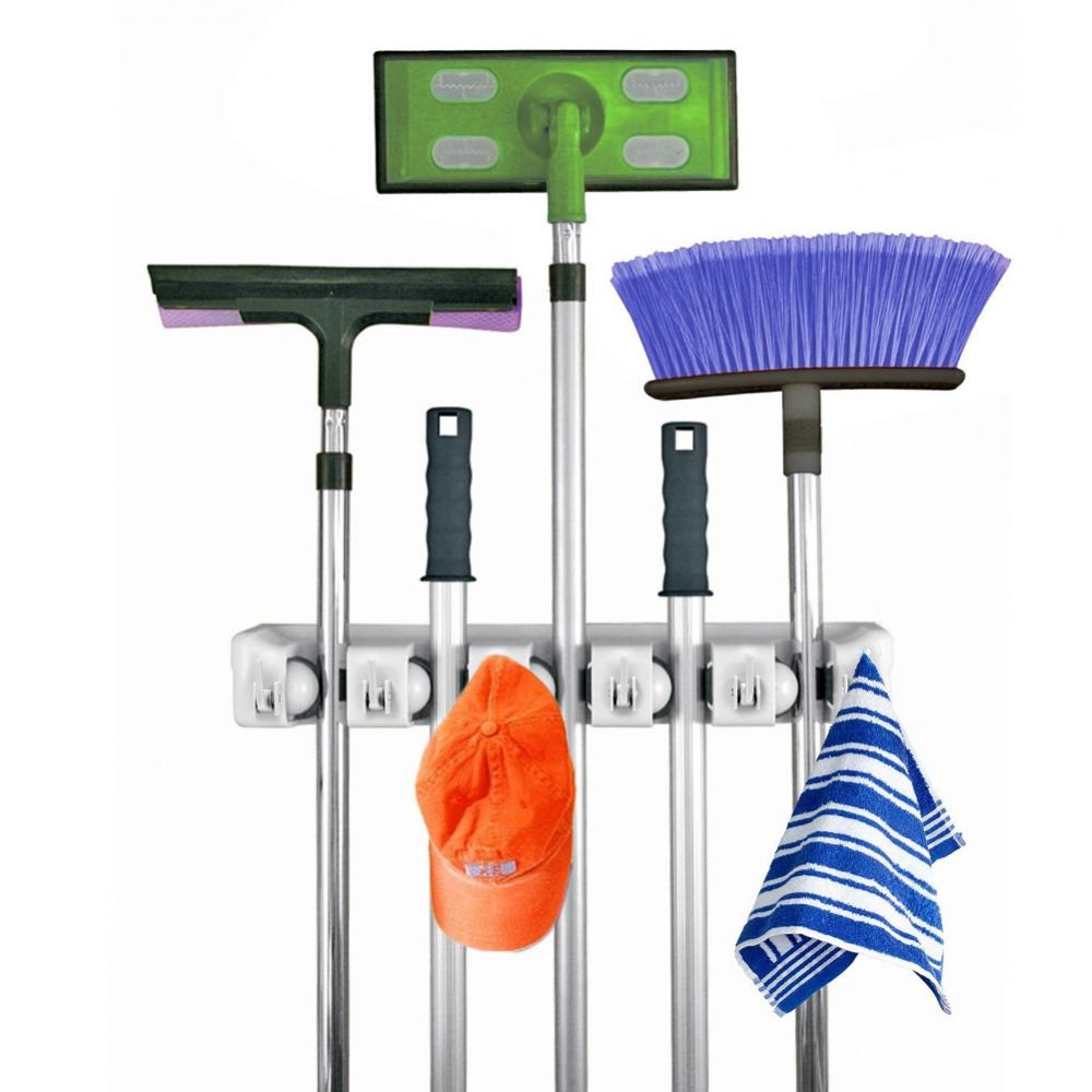 Broom Mop Holder Storage Wall Mounted