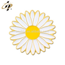 Shuanghua custom metal sunflower metal lapel pin for souvenir