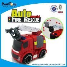 Enchimento plástico engraçado do motor de incêndio miúdos carros operados bateria do brinquedo