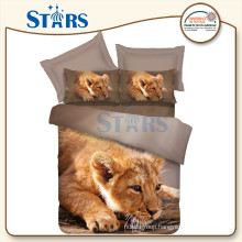 GS-FM3DA-03 home textile baby lion 3d fabric printing for bed set