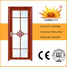 Apartamento Puerta abatible de aluminio con vidrio esmerilado (SC-AAD054)