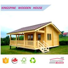 Cabaña de troncos de madera Casa de madera prefabricada con terraza