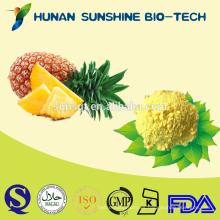 Polvo orgánico de alta calidad de la piña / polvo natural puro de la bromelaína del extracto de piña