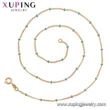 44825 xuping new arrival simple18k banhado a ouro cadeia colar de jóias de moda de China por atacado