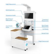 Kiosque de dépistage de la santé avec mesure de la pression artérielle