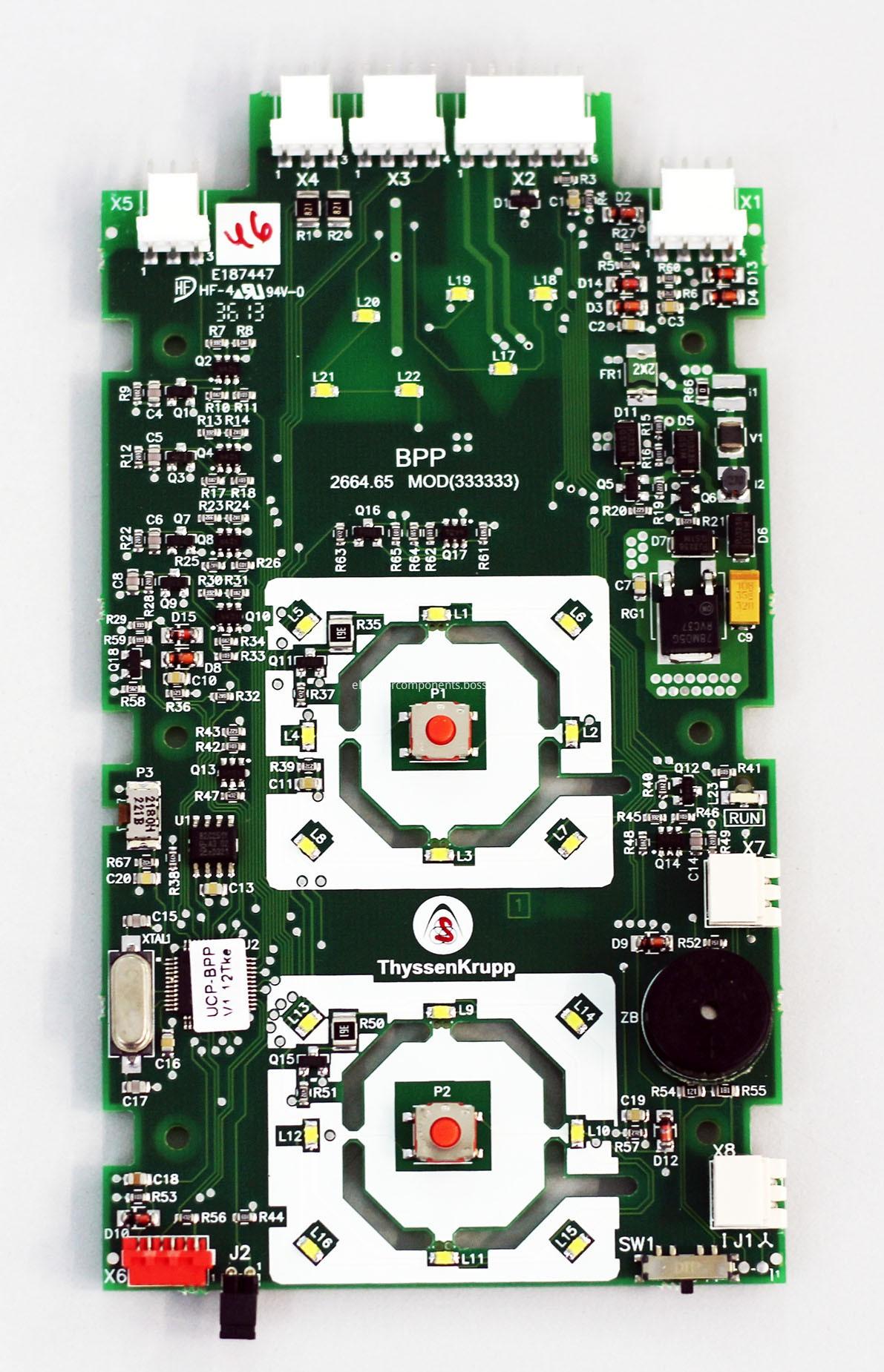 ThyssenKrupp Elevator LOP PCB BPP 2664.65 MOD
