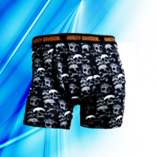 95% Cotton 5% Spandex Man′s Allover Print Skull Briefs