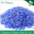 Lanscaping Glass Sand Crushed Couble Blue Glass Chips Decorative Glass