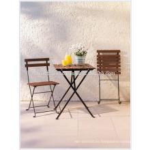 Decoración de cafeterías con bistro Set: 1 mesa, 2 sillas