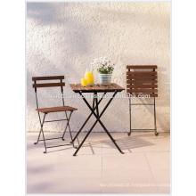 Cafeterias de decoração com conjunto de bistrô: 1 mesa, 2 cadeiras