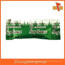 Влагонепроницаемый асептический пищевой сорт 3 боковые уплотнения пакетики соевого соуса с печатью