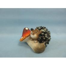 Mushroom Hedgehog forma de artesanato de cerâmica (LOE2538-C9)