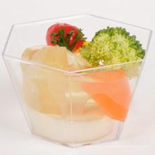 Vajilla Copa de plástico Copa hexagonal 3.3 oz con tapa