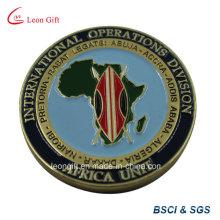 Métal Design Afrique carte commémorer la pièce de monnaie d'émail