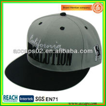 100% Acrylique Snapback Chapeaux Gris SN-1218