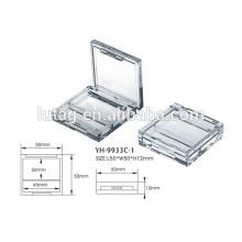 Transparente quadratische Lidschatten Box