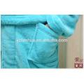 Largo manga rodilla longitud Coral paño grueso y suave bata de baño para hombres
