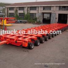 80-300t cargando peso varios ejes sobre un vehículo de carga pesada con cuello de ganso hidráulico y ruedas (remolque modular para camión)