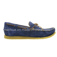 Safety Bule Colour Fashionable Leather Boat Shoes