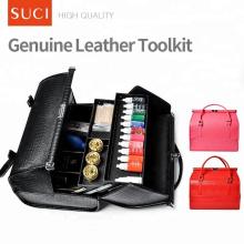 SUCI Custom Großhandel rot rosa leer Make-up Fall Leder Kosmetik Make-up Tasche
