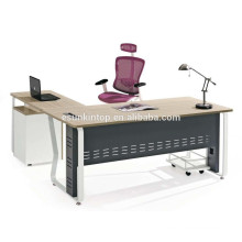 L shape top design office table metal office desk